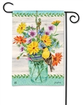 Goldfinch on Jar BreezeArt Garden Flag
