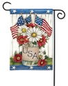 USA Mason Jar BreezeArt Garden Flag