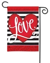Heart with Stripe BreezeArt Garden Flag