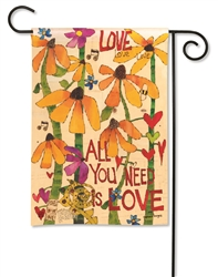 All You Need is Love BreezeArt Garden Flag