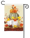 Neutral Pumpkins BreezeArt Garden Flag