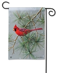 Winter Red Bird BreezeArt Garden Flag