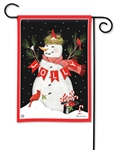 Jolly Snowman BreezeArt Garden Flag