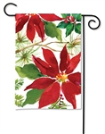 Pretty Poinsettia BreezeArt Garden Flag