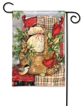 Front Porch Christmas BreezeArt Garden Flag