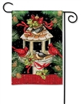 Christmas Dinner BreezeArt Garden Flag