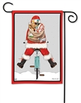 Santa Cycle BreezeArt Garden Flag