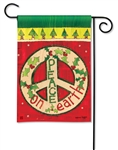 Peace on Earth BreezeArt Garden Flag
