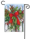 Holiday Garland BreezeArt Garden Flag