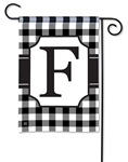Black & White Check Monogram Garden Flag F