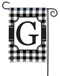 Black & White Check Monogram Garden Flag G