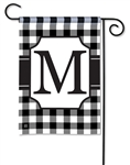 Black & White Check Monogram Garden Flag M