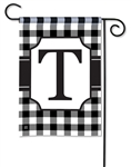 Black & White Check Monogram Garden Flag T
