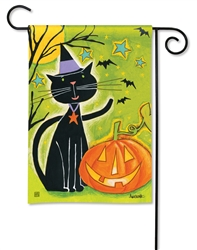 Black Cat Magic BreezeArt Garden Flag