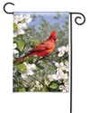 Cardinal in Blossoms BreezeArt Garden Flag
