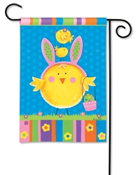 Easter Chicks BreezeArt Garden Flag