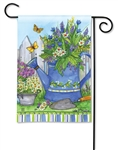 Painted Watering Can BreezeArt Garden Flag