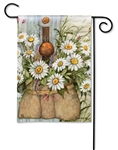 Fresh Picked Daisies BreezeArt Garden Flag