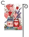 Filled With Love BreezeArt Garden Flag