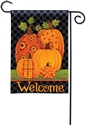 Patterned Pumpkins BreezeArt Garden Flag