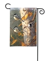 Chickadee Trio BreezeArt Garden Flag