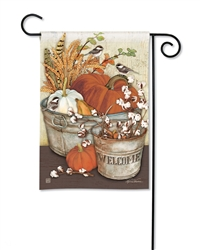 Farmhouse Pumpkins BreezeArt Garden Flag