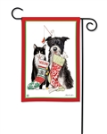 Christmas Dog and Cat BreezeArt Garden Flag