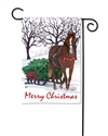 Horse Drawn Sled BreezeArt Garden Flag