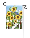 Sunflower Gate BreezeArt Garden Flag