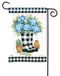 Black and White Wellies BreezeArt Garden Flag