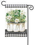 Farmhouse Daisies BreezeArt Garden Flag