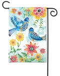Happy Bluebirds BreezeArt Garden Flag