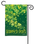 Shamrock Shower BreezeArt Garden Flag