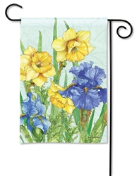 Daffodils and Irises BreezeArt Garden Flag