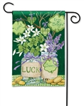 Lucky Shamrocks BreezeArt Garden Flag