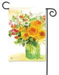 Yellow Roses BreezeArt Garden Flag