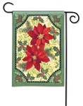 Pretty Poinsettias BreezeArt Garden Flag