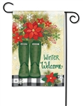 Winter Wellies BreezeArt Garden Flag