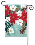 Poinsettia Bloom BreezeArt Garden Flag