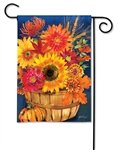 Fall Bushel Basket BreezeArt Garden Flag