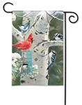Winter Birds BreezeArt Garden Flag