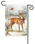 Woodland Christmas BreezeArt Garden Flag