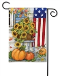 Fall Porch BreezeArt Garden Flag