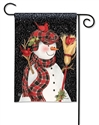 Snowman With Broom BreezeArt Garden Flag