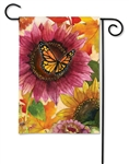 Sunflower Butterfly BreezeArt Garden Flag