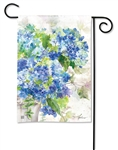 Blue Hydrangeas BreezeArt Garden Flag
