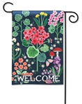 Geranium Welcome BreezeArt Garden Flag