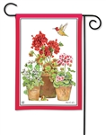 Potted Geraniums BreezeArt Garden Flag