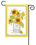 Sunflowers and Bees BreezeArt Garden Flag