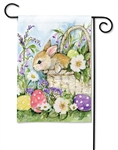 Easter Bunny Basket BreezeArt Garden Flag